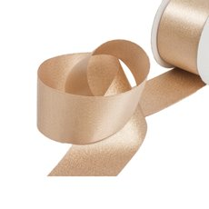Christmas Ribbons & Bows - Ribbon DF Satin Shimmer Rose Gold (38mmx10m)
