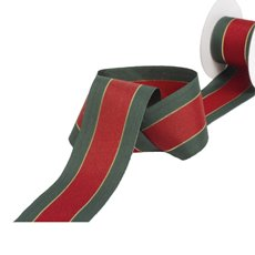 Christmas Ribbons & Bows - Ribbon Grosgrain Traditional Red Green Gold (38mmx10m)