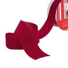 Velvet Ribbon - Ribbon Velvet Cut Edge Red (50mmx20m)