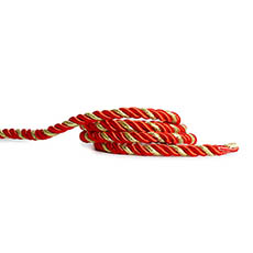Metallic Rope Red and Gold (6mmx10m)