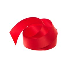 Satin Ribbons - Ribbon Satin Deluxe Double Faced Red (25mmx25m)