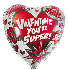 Foil Balloons - Foil Balloon 17 Heart Valentine Youre Super