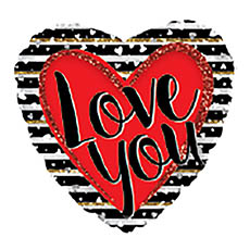 Foil Balloons - Foil Balloon 17 Love You Stripes