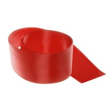 Satin Ribbons - Ribbon Satin Deluxe Double Faced Red (50mmx25m)