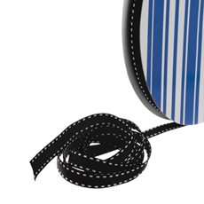 Grosgrain Ribbons - Bulk Grosgrain Ribbon Saddle Stitch Black (10mmx50m)