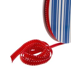 Grosgrain Ribbons - Bulk Grosgrain Ribbon Saddle Stitch Red (10mmx50m)