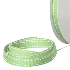 Grosgrain Ribbons - Ribbon Grosgrain Saddle Stitch Sage (10mmx20m)