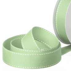 Grosgrain Ribbons - Ribbon Grosgrain Saddle Stitch Sage (25mmx20m)