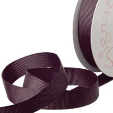 Grosgrain Ribbons - Ribbon Plain Grosgrain Burgundy (15mmx20m)