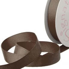 Grosgrain Ribbons - Ribbon Plain Grosgrain Chocolate (15mmx20m)