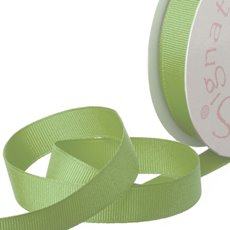 Grosgrain Ribbons - Ribbon Plain Grosgrain Green (15mmx20m)