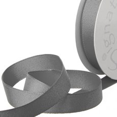 Grosgrain Ribbons - Ribbon Plain Grosgrain Grey (15mmx20m)