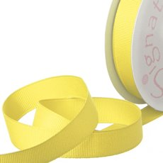 Grosgrain Ribbons - Ribbon Plain Grosgrain Lemon (15mmx20m)