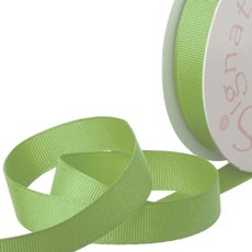 Grosgrain Ribbons - Ribbon Plain Grosgrain Lime (15mmx20m)