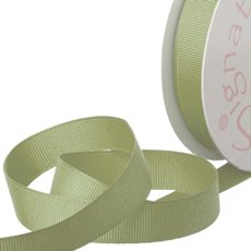 Grosgrain Ribbons - Ribbon Plain Grosgrain Sage (15mmx20m)