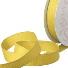Ribbon Plain Grosgrain Yellow (15mmx20m)