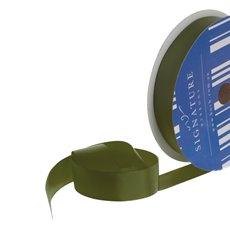 Grosgrain Ribbons - Bulk Grosgrain Ribbon Plain Olive (25mmx50m)