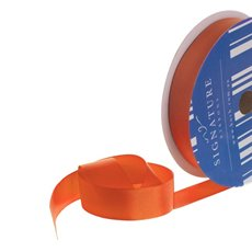 Grosgrain Ribbons - Bulk Grosgrain Ribbon Plain Orange (25mmx50m)