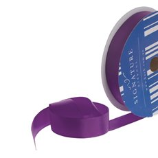 Bulk Grosgrain Ribbon Plain Purple (25mmx50m)