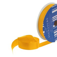 Grosgrain Ribbons - Bulk Grosgrain Ribbon Plain Yellow (25mmx50m)