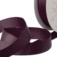 Grosgrain Ribbons - Ribbon Plain Grosgrain Burgundy (25mmx20m)