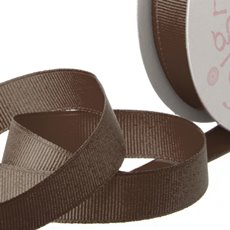 Grosgrain Ribbons - Ribbon Plain Grosgrain Chocolate (25mmx20m)