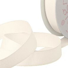 Grosgrain Ribbons - Ribbon Plain Grosgrain Cream (25mmx20m)