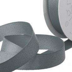 Grosgrain Ribbons - Ribbon Plain Grosgrain Grey (25mmx20m)