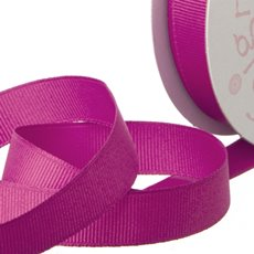 Grosgrain Ribbons - Ribbon Plain Grosgrain Hot Pink (25mmx20m)