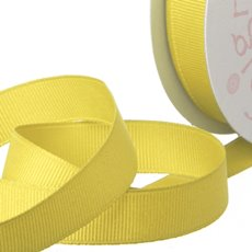 Grosgrain Ribbons - Ribbon Plain Grosgrain Lemon (25mmx20m)