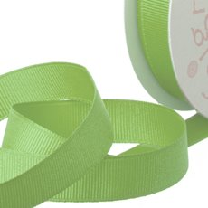 Grosgrain Ribbons - Ribbon Plain Grosgrain Lime (25mmx20m)