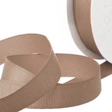 Grosgrain Ribbons - Ribbon Plain Grosgrain Latte (25mmx20m)
