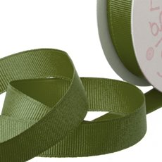 Ribbon Plain Grosgrain Olive (25mmx20m)
