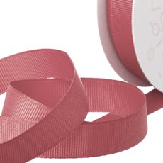 Grosgrain Ribbons - Ribbon Plain Grosgrain Dark Pink (25mmx20m)