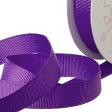 Grosgrain Ribbons - Ribbon Plain Grosgrain Purple (25mmx20m)