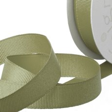 Grosgrain Ribbons - Ribbon Plain Grosgrain Sage (25mmx20m)