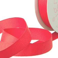 Grosgrain Ribbons - Ribbon Plain Grosgrain Watermelon (25mmx20m)