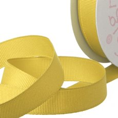 Ribbon Plain Grosgrain Yellow (25mmx20m)