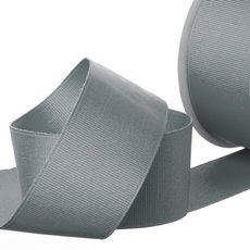 Grosgrain Ribbons - Ribbon Plain Grosgrain Grey (38mmx20m)