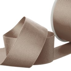 Grosgrain Ribbons - Ribbon Plain Grosgrain Latte (38mmx20m)