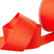 Grosgrain Ribbons - Ribbon Plain Grosgrain Neon Red (38mmx20m)