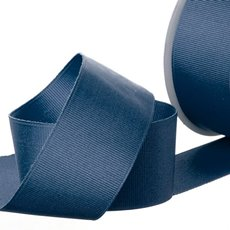 Grosgrain Ribbons - Ribbon Plain Grosgrain Navy (38mmx20m)