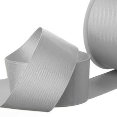 Ribbon Plain Grosgrain Silver (38mmx20m)