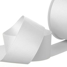 Ribbon Plain Grosgrain White (38mmx20m)