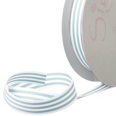 Grosgrain Ribbons - Ribbon Grosgrain Stripes Baby Blue (15mmx20m)