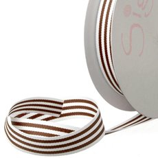Grosgrain Ribbons - Ribbon Grosgrain Stripes Chocolate (15mmx20m)