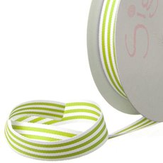 Grosgrain Ribbons - Ribbon Grosgrain Stripes Lime (15mmx20m)