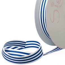 Grosgrain Ribbons - Ribbon Grosgrain Stripes Navy (15mmx20m)