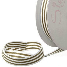 Ribbon Grosgrain Stripes Olive (15mmx20m)