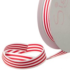 Grosgrain Ribbons - Ribbon Grosgrain Stripes Red (15mmx20m)